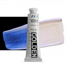 Golden : Heavy Body Acrylic Paint : 60ml : Blue Fine Interference