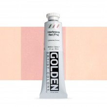 Golden : Heavy Body Acrylic Paint : 60ml : Red Fine Interference