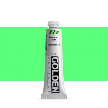Golden : Heavy Body : Acrylic Paint : 59ml : Fluorescent Green
