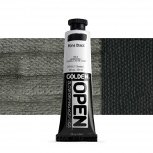Golden : Open : Slow Drying Acrylic Paint : 59ml : Bone Black I