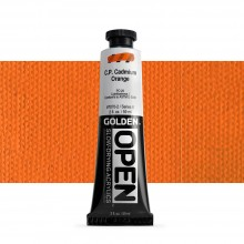 Golden : Open : Slow Drying Acrylic Paint : 59ml : C.P. Cadmium Orange VIII