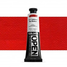 Golden : Open : Slow Drying Acrylic Paint : 59ml : C.P. Cadmium Red Medium IX