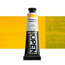 Golden : Open : Slow Drying Acrylic Paint : 59ml : C.P. Cadmium Yellow Dark VII
