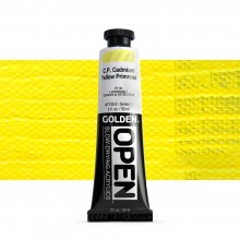 Golden : Open : Slow Drying Acrylic Paint : 59ml : C.P. Cadmium Yellow Primose VII
