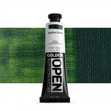 Golden : Open : Slow Drying Acrylic Paint : 59ml : Jenkins Green VII