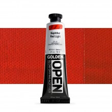 Golden : Open : Slow Drying Acrylic Paint : 59ml : Naphthol Red Light V