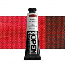 Golden : Open : Slow Drying Acrylic Paint : 59ml : Naphthol Red Med V