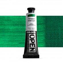 Golden : Open : Slow Drying Acrylic Paint : 59ml : Permanent Green Light IV