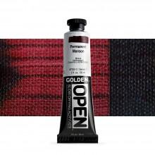 Golden : Open : Slow Drying Acrylic Paint : 59ml : Permanent Maroon VII