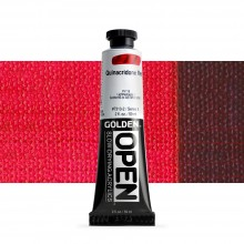 Golden : Open : Slow Drying Acrylic Paint : 59ml : Quinacridone Red VI