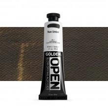 Golden : Open : Slow Drying Acrylic Paint : 59ml : Raw Umber I