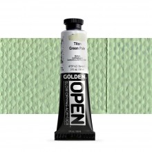 Golden : Open : Slow Drying Acrylic Paint : 60ml : Titan Green Pale I