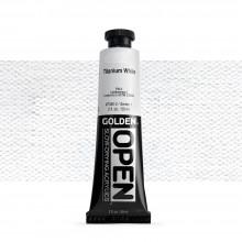 Golden : Open : Slow Drying Acrylic Paint : 59ml : Titanium White I