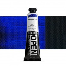 Golden : Open : Slow Drying Acrylic Paint : 59ml : Ultra Blue II