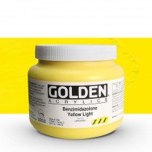 Golden : Heavy Body : Acrylic Paint : 946ml : Benzimidazolone Yellow Light III : Please allow an extra week for delivery