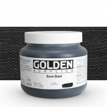 Golden : Heavy Body Acrylic Paint : 946ml : Bone Black : Please allow an extra week for delivery