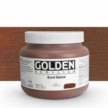Golden : Heavy Body Acrylic Paint : 946ml : Burnt Sienna : Please allow an extra week for delivery