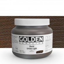 Golden : Heavy Body Acrylic Paint : 946ml : Burnt Umber Light