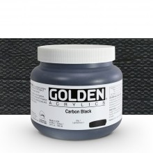 Golden : Heavy Body Acrylic Paint : 946ml : Carbon Black