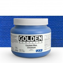 Golden : Heavy Body Acrylic Paint : 946ml : Cerulean Blue Chromium
