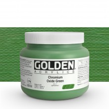 Golden : Heavy Body Acrylic Paint : 946ml : Chromium Oxide Green : Please allow an extra week for delivery