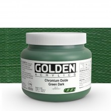 Golden : Heavy Body Acrylic Paint : 946ml Chrome Oxide Green Dark Iii New