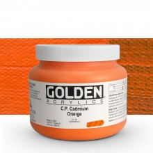 Golden : Heavy Body : Acrylic Paint : 946ml : Pure Cadmium Orange : Please allow an extra week for delivery
