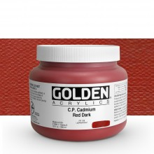Golden : Heavy Body Acrylic Paint : 946ml : Pure Cadmium Red Dark : Please allow an extra week for delivery