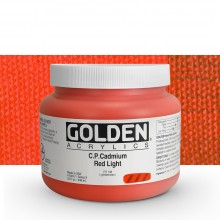 Golden : Heavy Body Acrylic Paint : 946ml : Pure Cadmium Red Light : Please allow an extra week for delivery