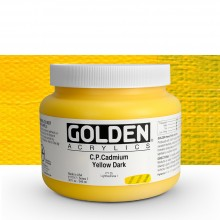 Golden : Heavy Body : Acrylic Paint : 946ml : Pure Cadmium Yellow Dark : Please allow an extra week for delivery