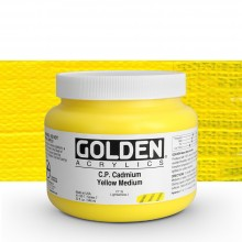 Golden : Heavy Body Acrylic Paint : 946ml : Pure Cadmium Yellow Medium : Please allow an extra week for delivery