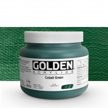 Golden : Heavy Body Acrylic Paint : 946ml : Cobalt Green : Please allow an extra week for delivery