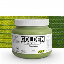 Golden : Heavy Body Acrylic Paint : 946ml : Green Gold
