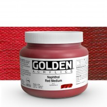 Golden : Heavy Body Acrylic Paint : 946ml : Naphthol Red Medium