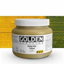 Golden : Heavy Body Acrylic Paint : 946ml : Nickel Azo Yellow