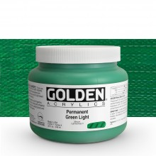 Golden : Heavy Body Acrylic Paint : 946ml : Perm Green Light