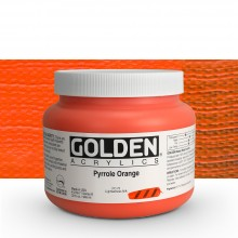 Golden : Heavy Body Acrylic Paint : 946ml : Pyrrole Orange : Please allow an extra week for delivery