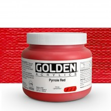 Golden : Heavy Body Acrylic Paint : 946ml : Pyrrole Red : Please allow an extra week for delivery