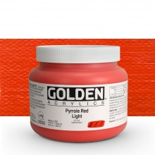 Golden : Heavy Body : Acrylic Paint : 946ml : Pyrrole Red Light : Please allow an extra week for delivery