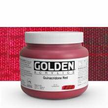 Golden : Heavy Body Acrylic Paint : 946ml : Quinacridone Red