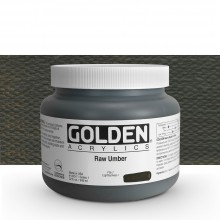 Golden : Heavy Body Acrylic Paint : 946ml : Raw Umber