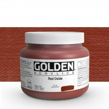 Golden : Heavy Body Acrylic Paint : 946ml : Red Oxide : Please allow an extra week for delivery