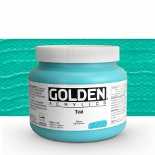 Golden : Heavy Body Acrylic Paint : 946ml : Teal Iii : Please allow an extra week for delivery