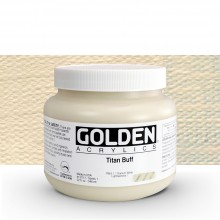 Golden : Heavy Body Acrylic Paint : 946ml : Titan Buff