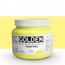 Golden : Heavy Body : Acrylic Paint : 946ml : Titanate Yellow : Please allow an extra week for delivery