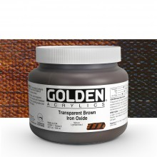 Golden : Heavy Body Acrylic Paint : 946ml Trans Brown Iron Oxide Iii
