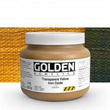 Golden : Heavy Body Acrylic Paint : 946ml : Trans Yellow Iron Oxide : Please allow an extra week for delivery