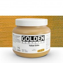 Golden : Heavy Body Acrylic Paint : 946ml : Yellow Ochre