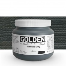 Golden : Heavy Body : Acrylic Paint : 946ml : Neutral Grey No.2 : Please allow an extra week for delivery