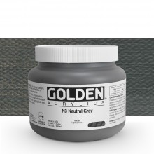 Golden : Heavy Body Acrylic Paint : 946ml : Neutral Grey No.3 : Please allow an extra week for delivery